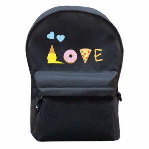 Plecak z przednią kieszenią Love any food