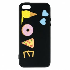 Etui na iPhone 5/5S/SE Love any food