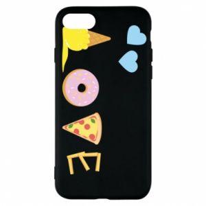 Etui na iPhone 7 Love any food