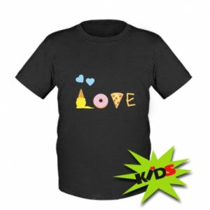 Kids T-shirt Love any food