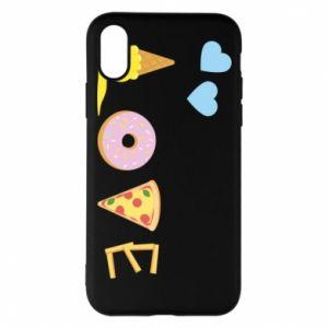 Etui na iPhone X/Xs Love any food
