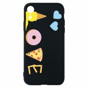 Etui na iPhone XR Love any food