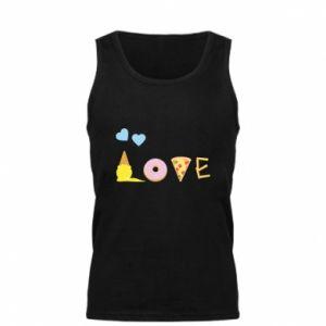 Męska koszulka Love any food