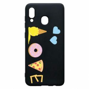 Etui na Samsung A20 Love any food