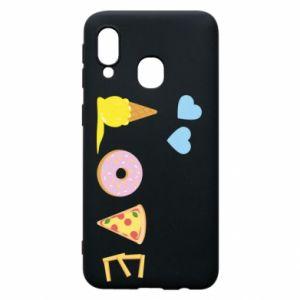 Etui na Samsung A40 Love any food