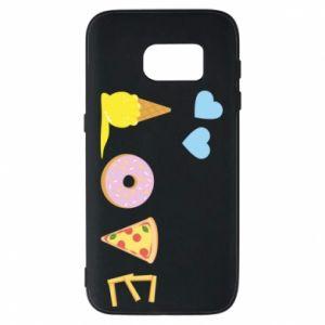 Etui na Samsung S7 Love any food