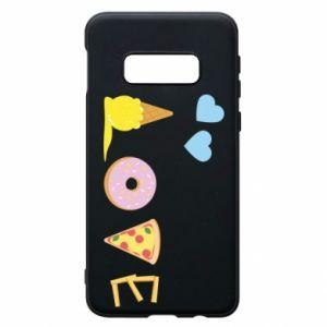 Etui na Samsung S10e Love any food