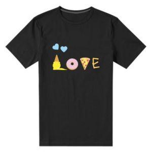Męska premium koszulka Love any food