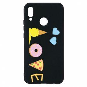 Etui na Huawei P20 Lite Love any food