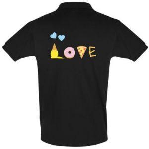 Koszulka Polo Love any food