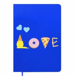 Notepad Love any food