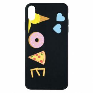 Etui na iPhone Xs Max Love any food
