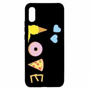Etui na Xiaomi Redmi 9a Love any food