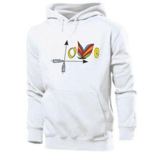 Men's hoodie Love Butterfly
