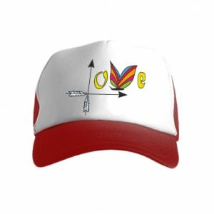 Kid's Trucker Hat Love Butterfly