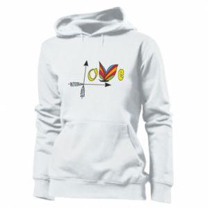 Women's hoodies Love Butterfly