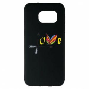Samsung S7 EDGE Case Love Butterfly