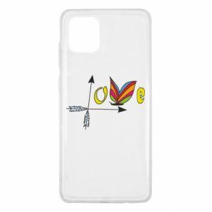 Samsung Note 10 Lite Case Love Butterfly