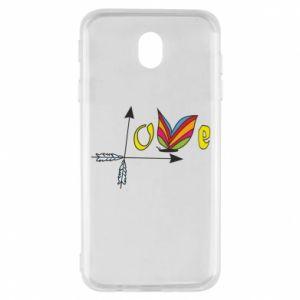 Samsung J7 2017 Case Love Butterfly