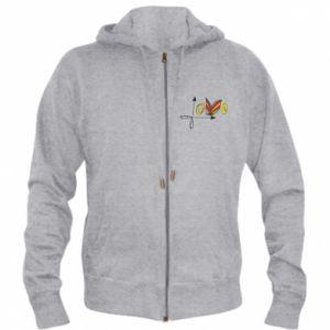 Men's zip up hoodie Love Butterfly