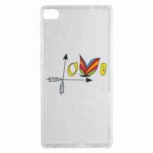 Huawei P8 Case Love Butterfly