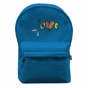 Backpack with front pocket Love Butterfly