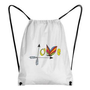 Plecak-worek Love Butterfly