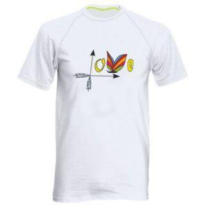 Men's sports t-shirt Love Butterfly