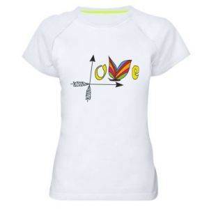 Women's sports t-shirt Love Butterfly