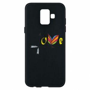Samsung A6 2018 Case Love Butterfly