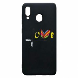 Samsung A20 Case Love Butterfly