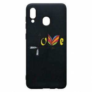 Samsung A30 Case Love Butterfly