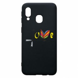 Samsung A40 Case Love Butterfly
