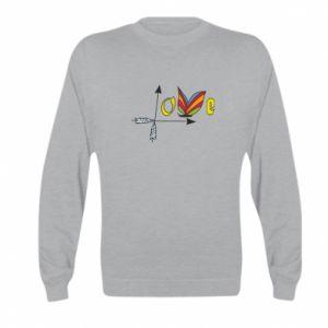 Kid's sweatshirt Love Butterfly