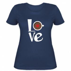 Koszulka damska Love coffee
