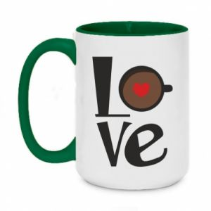Kubek dwukolorowy 450ml Love coffee