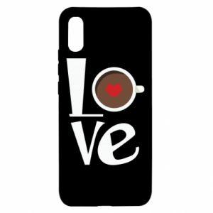 Etui na Xiaomi Redmi 9a Love coffee
