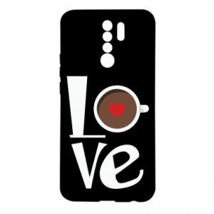 Etui na Xiaomi Redmi 9 Love coffee