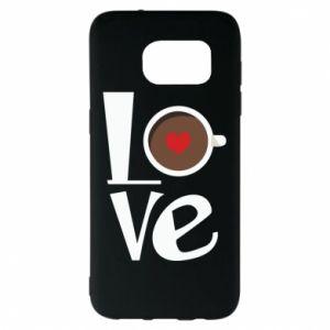 Etui na Samsung S7 EDGE Love coffee