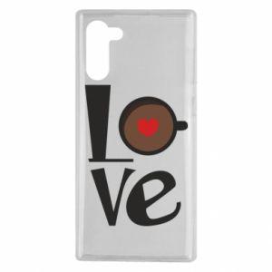 Etui na Samsung Note 10 Love coffee