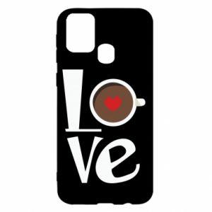 Etui na Samsung M31 Love coffee