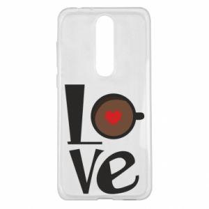 Etui na Nokia 5.1 Plus Love coffee
