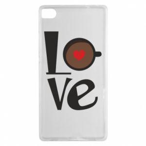 Etui na Huawei P8 Love coffee