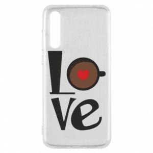 Etui na Huawei P20 Pro Love coffee