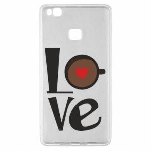 Etui na Huawei P9 Lite Love coffee