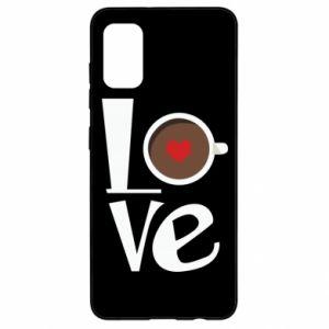 Etui na Samsung A41 Love coffee