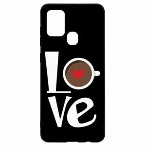 Etui na Samsung A21s Love coffee