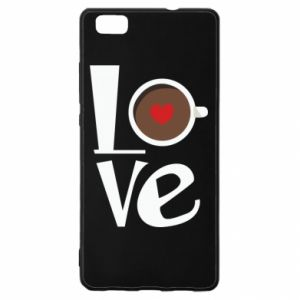 Etui na Huawei P 8 Lite Love coffee