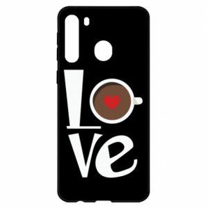 Etui na Samsung A21 Love coffee