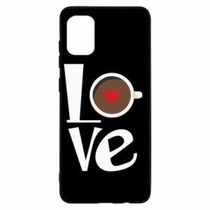 Etui na Samsung A31 Love coffee